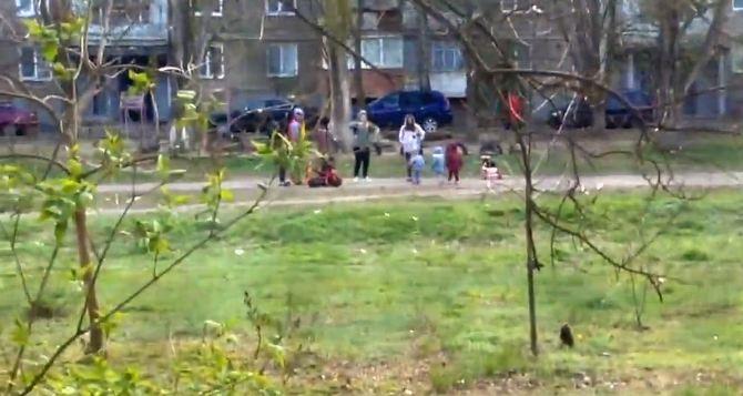 Как придерживаются карантина Луганчане (Видео)