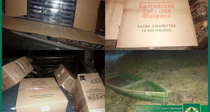 При попытки переправить через Северский Донец 5 тыс пачек сигареты схвачены контрабандисты