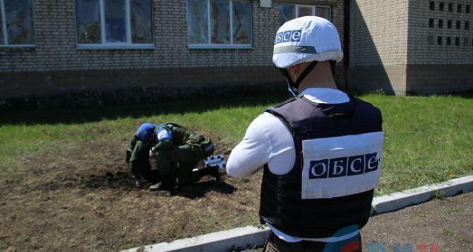 Наблюдатели ОБСЕ зафиксировали последствия обстрела Золотого-5. ФОТО