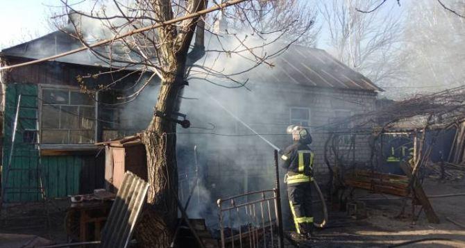 В Станице Луганской в результате пожара погибла пенсионерка