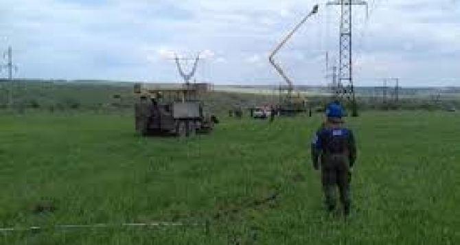 Возобновлены ремонтные работы на ЛЭП в районе Березовского. С 23мая Киев дал гарантии безопасности