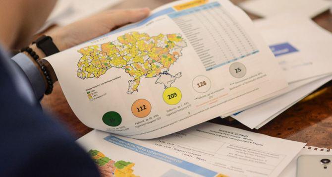 Кабмин по новой поделил Луганскую и Донецкую области на районы