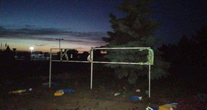 В Станице Луганской разрушена «Украина»