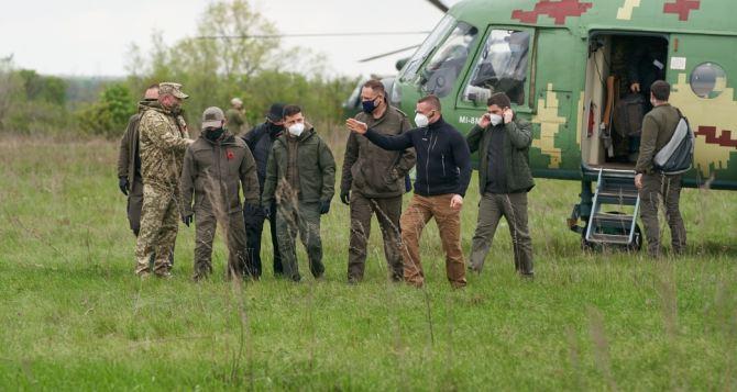 Зеленский прибыл на Луганщину