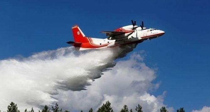 Авиация приступила к тушению масштабных лесных пожаров под Северодонецком