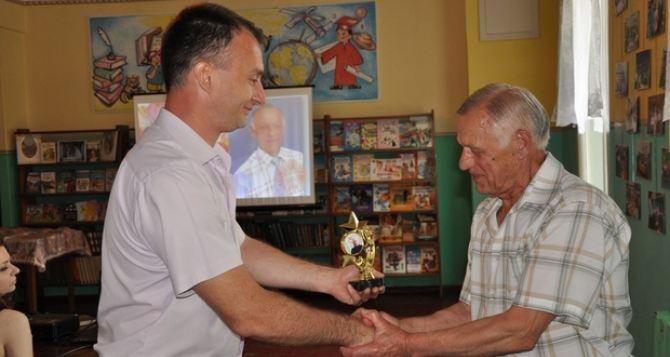 В Ирмино отметил свое 75-летие полный кавалер знака «Шахтерская слава». ФОТО