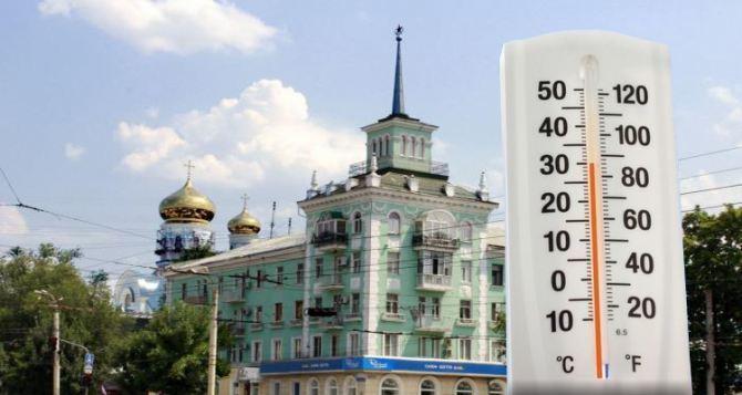 В Луганске на два дня установилась жара. Сегодня— до 35 градусов в тени