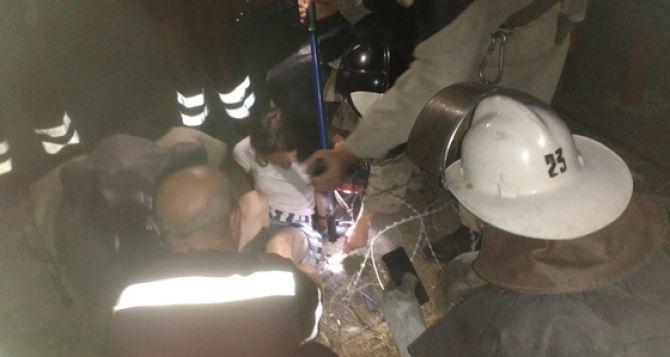 В Первомайске спасатели освободили девочку из колючей проволоки прямо на школьном дворе