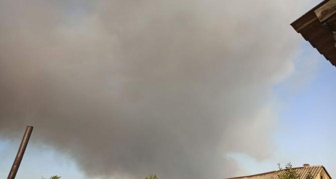 Дым от пожаров у Станицы Луганской дошел до Луганска