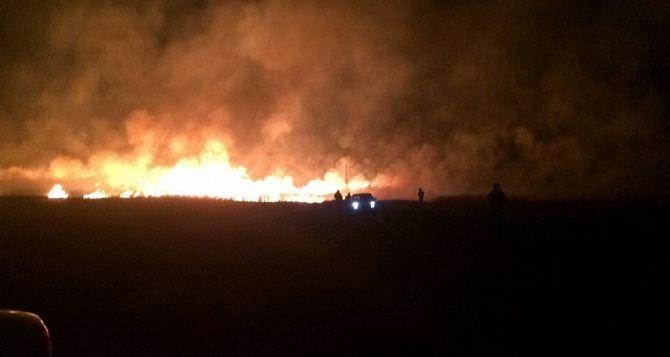 Масштабные пожары продолжаются в Луганской области. Количество возгораний растет