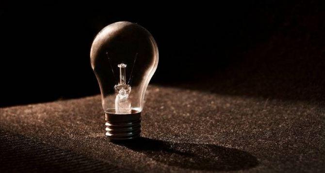 Отсутствие электроснабжения в Луганске 7сентября