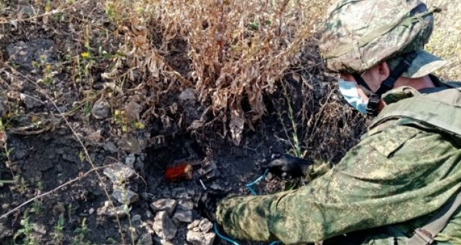 За неделю саперы разминировали территорию в 64 га в районе Славяносербска, Зеленой Рощи, Донецкого, Дебальцево, и возле строящихся КПВВ. ФОТО