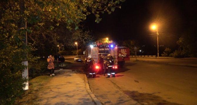 При пожаре в центре Луганска погиб мужчина