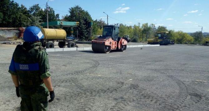 Под контролем ОБСЕ продолжаются работы по обустройству КПВВ «Луганск-Счастье» и «Первомайск-Золотое»