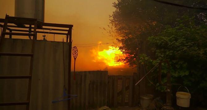 Село Муратово почти сгорело. Эвакуируют также  Капитаново, Артема, Нижнетеплое. ФОТО