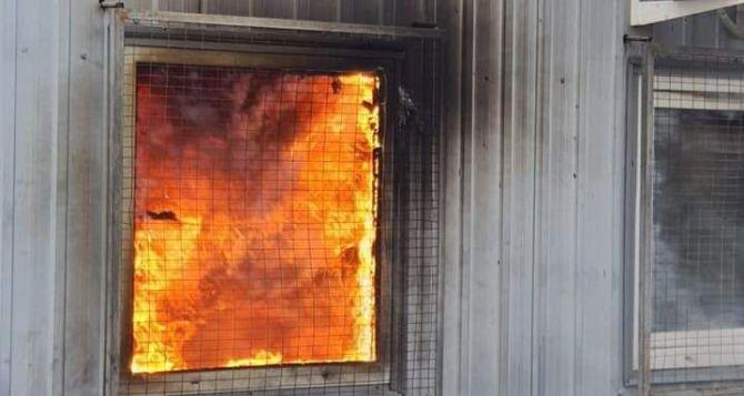 Помещения и территория КПВВ «Станица Луганская» в огне. ФОТО. ВИДЕО