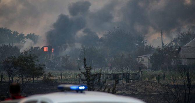Более 30 населенным пунктам в Луганской области угрожает огонь