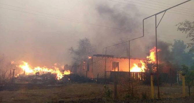 Продолжается тушение пожаров в Луганской области. Перекрыто дорожное движение