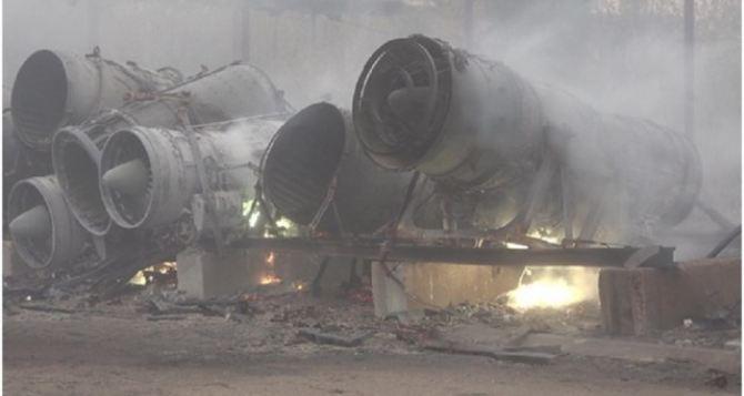 В Луганске был пожар на авиаремонтном заводе. В районе ВВАУШ сгорело 3 ангара