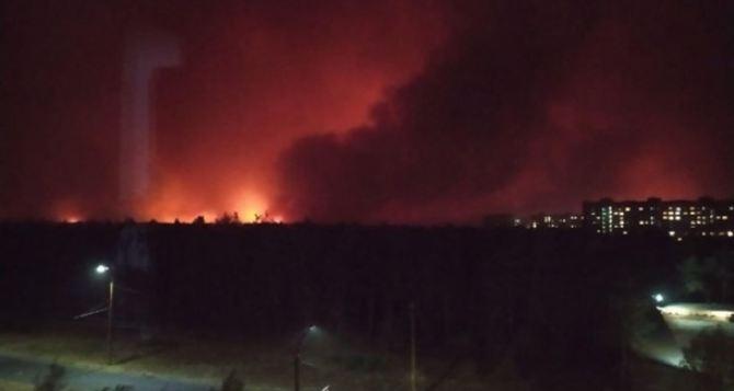 В Луганской области продолжают тушить пожары