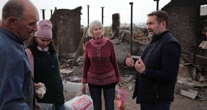 Пожарами в Луганской области уничтожено полтысячи жилых домов и почти две тысячи хозяйственный построек