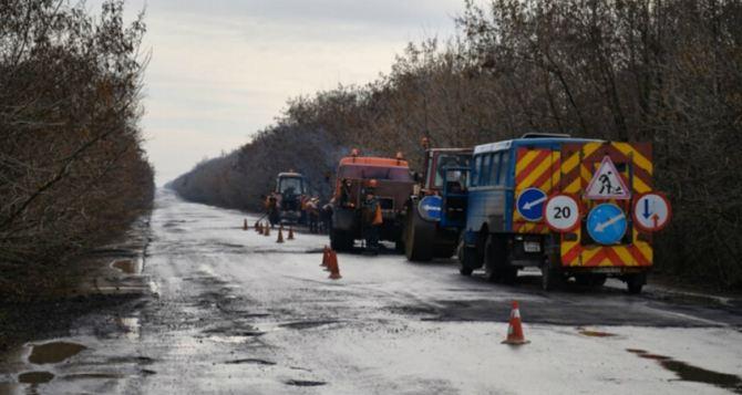 В Луганской области прекратили все ремонтные работы на дорогах