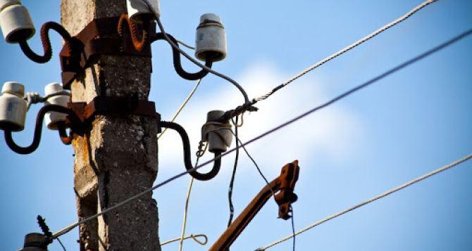 Отсутствие электроснабжения в Луганске 24октября