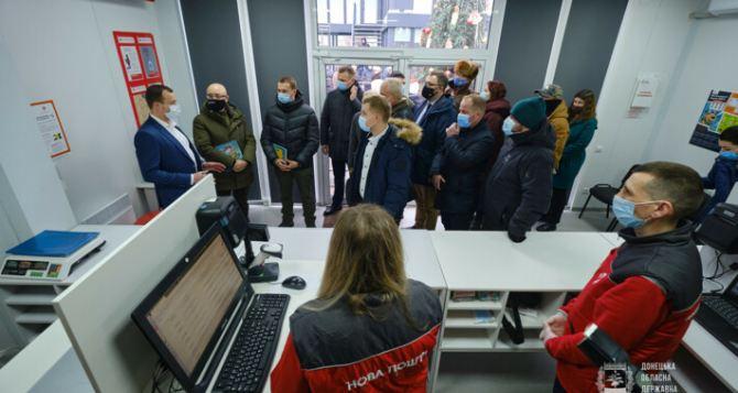 На автомобильном КПВВ открыли новый сервисный центр с отделением «Новой почты» и аптекой. ФОТО