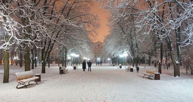 Погода на Рождество в Луганске и на Юго-Востоке Украины