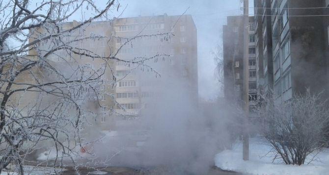 В центре Донецка крупный порыв на сетях теплоснабжения