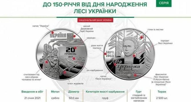 Национальный банк выпустил в оборот новую монету номиналом в 20 гривен