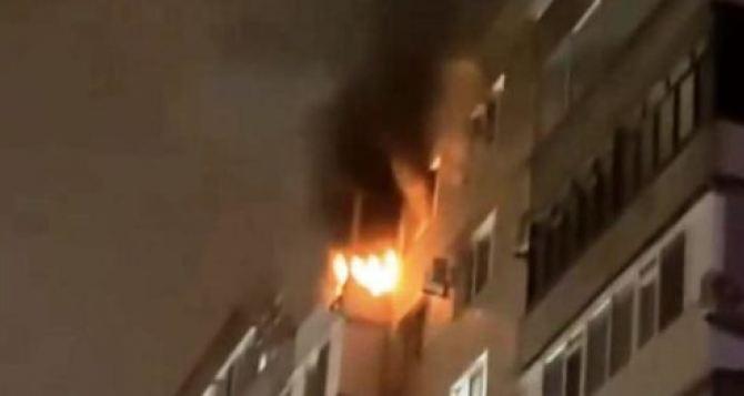 Сегодня в центре Донецка горела девятиэтажка. Есть пострадавшие