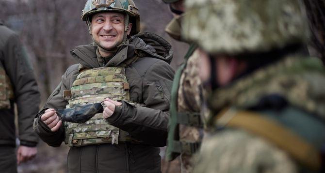 Зеленский посетил передовую на Донбассе. ФОТО
