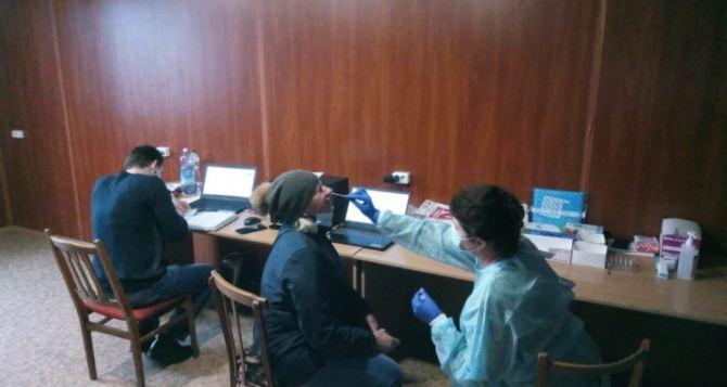 Бесплатное тестирование начато сегодня на КПВВ «Станица Луганская». ФОТО