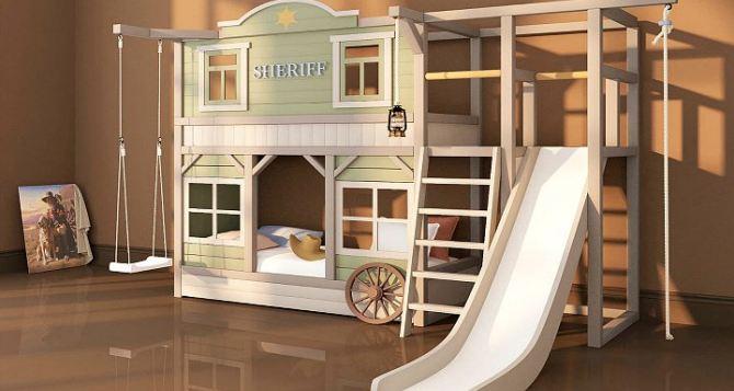 Двухъярусная кровать: место для игр и творчества в детской комнате