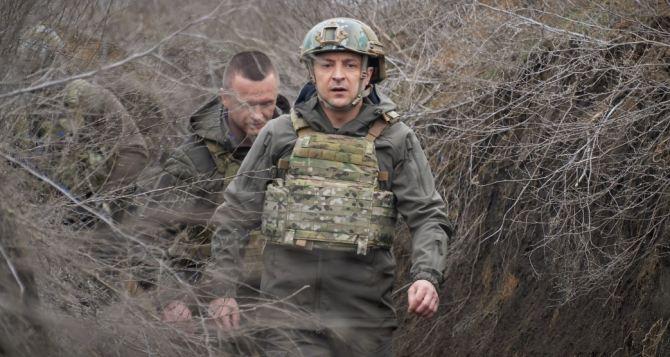 Зеленский провел ночь с военными на Донбассе, и снова посетил линию разграничения. ФОТО
