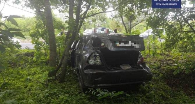 В Лисичанске автомобиль влетел в дерево (ФОТО)