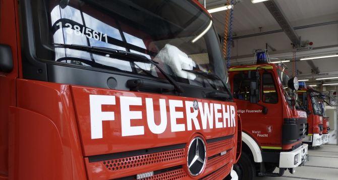 Пожарным Луганщины передали 9 австрийских спецавтомобилей