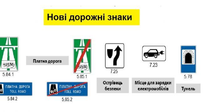 Новые дорожные знаки появятся осенью в Украине