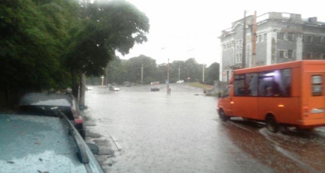 Завтра в Луганске сильный дождь и ветер со скоростью более 70 км в час.