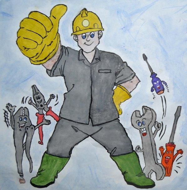 труд шахтеров рисунок фото