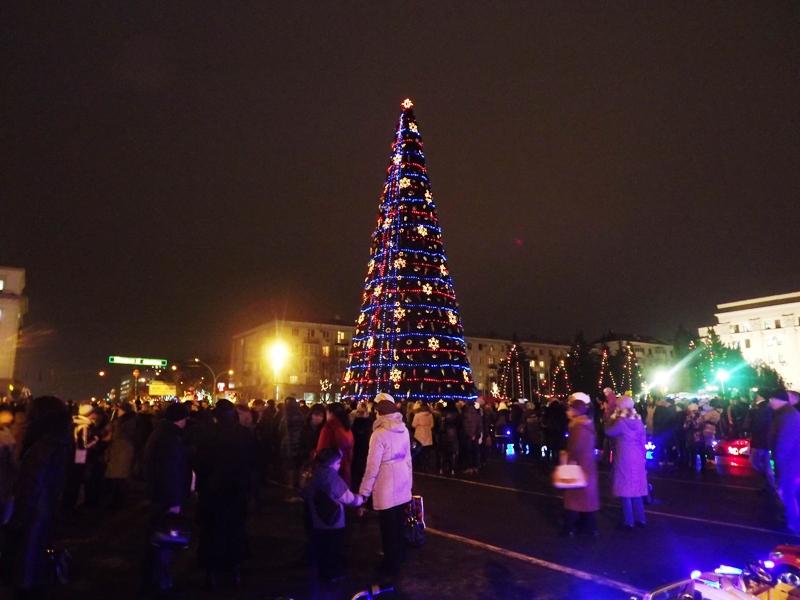 В Луганске зажгла огни главная новогодняя елка +