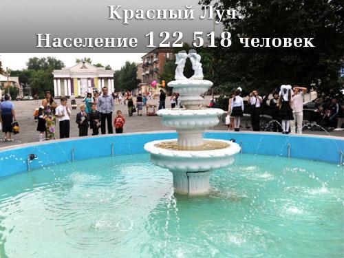Население Луганской области Красный Луч