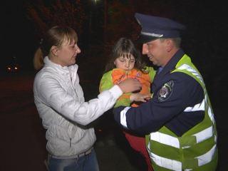 В Луганске сотрудники ГАИ нашли пропавшего ребенка