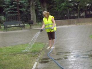 Полив газонов во время дождя. Абсурд по-лугански или…? (фото)