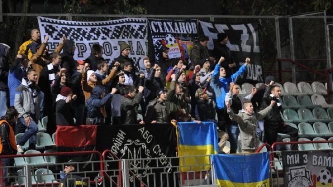 Встреча луганской «Зари» с донецким «Металлургом» в фотографиях