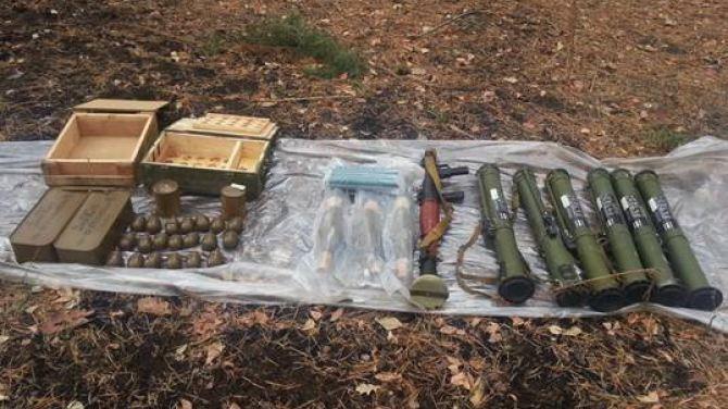 На Луганщине нашли тайник с арсеналом оружия +