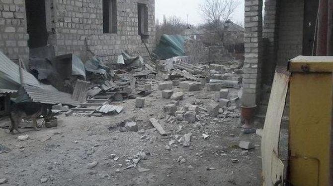 Последствия боевых действий возле ж/д станции «Сентяновка» в Луганской области +