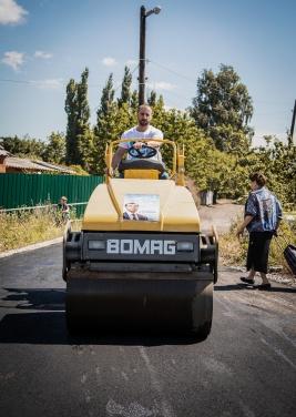 В Лисичанске команда народного депутата Сергея Рыбалка начала масштабно ремонтировать дороги