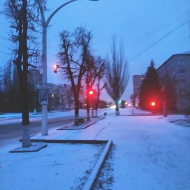 В Луганске— первый снег. ФОТО